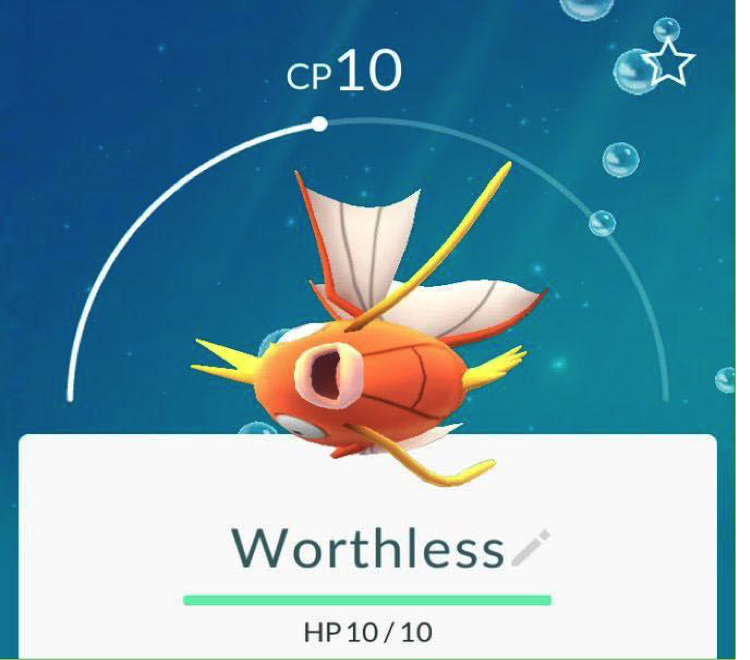 PokémonGo: Magikarp – commonly regarded as the weakest and most useless of Pokémon